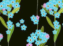 植物花纹图案Photoshop无缝填充图案底纹素材.pat 免费下载