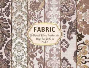 20种复古墙壁花纹、地毯编织物图案PS笔刷下载