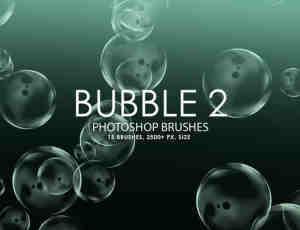 免费的泡沫、气泡、泡泡效果Photoshop笔刷素材下载
