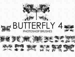 15个高品质免费的水彩蝴蝶Photoshop艺术蝴蝶素材下载