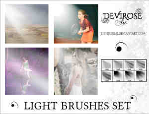 阳光、光线照射效果Photoshop光照笔刷