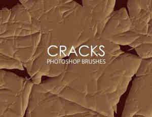 抽象裂缝、裂痕PS笔刷下载