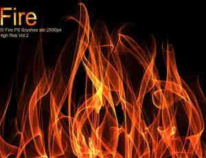 20种高分辨率燃烧火焰、火光特效PS素材笔刷免费下载