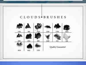高品质蓝天白云效果、高空云朵PS笔刷下载
