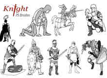 20种骑士卡通造型PS笔刷下载