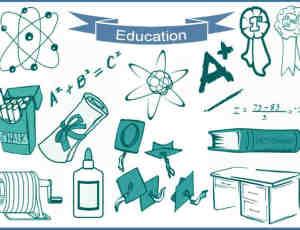 20种教育、教学、学校、学习相关元素的图形ps笔刷下载