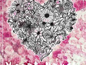 爱心图案、心形花纹花朵纹饰Photoshop情人节笔刷