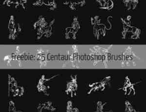 25个半人马图案Photoshop印记笔刷