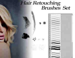 头发长发修饰、修正Photoshop毛发笔刷