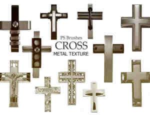 20种金属十字架Photoshop基督教元素笔刷