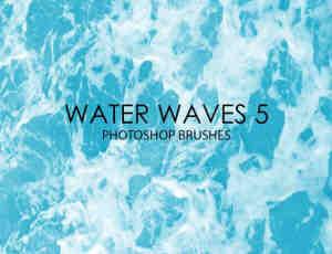 15个高品质海水水面波纹、海面纹理Photoshop笔刷素材下载