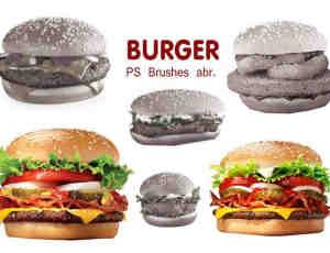 真实汉堡包图形素材PS笔刷下载