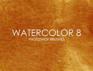 免费15个水彩纹理素材Photoshop笔刷