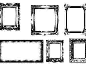 复古式画框、相框图形元素photoshop自定义形状素材 .csh 下载