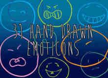 31种可爱涂鸦表情photoshop自定义形状素材 .csh 下载