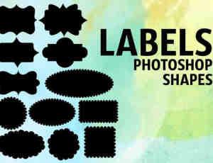 标签图形photoshop自定义形状素材 .csh 下载