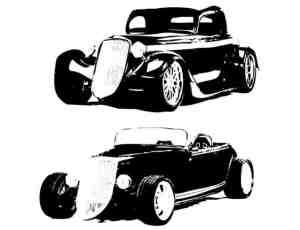 3种老爷车图形photoshop自定义形状素材
