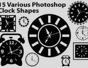 时钟、闹钟Photoshop自定义形状素材下载