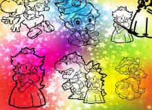 可爱卡通恶龙与公主Photoshop自定义形状素材 .csh 下载
