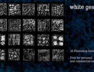 白色石膏纹理Photoshop背景纹理笔刷素材