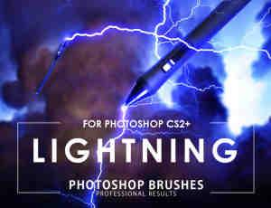 真实的闪电效果Photoshop笔刷素材下载(版本cs2+cs6)