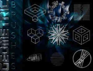 几种几何图形组合图案PS笔刷包素材