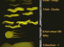 仿真人造毛发、毛皮纹理、皮草绒毛Photoshop笔刷素材