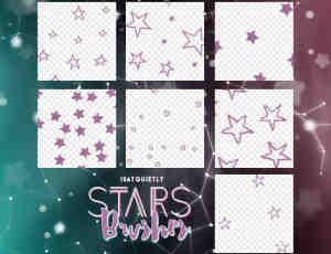 手绘卡通涂鸦星星符号标记PS五角星笔刷
