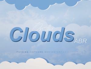 可爱卡通云朵、云层PS笔刷素材下载