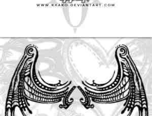 恶魔翅膀纹身、魔鬼怪兽刺青图案PS笔刷下载