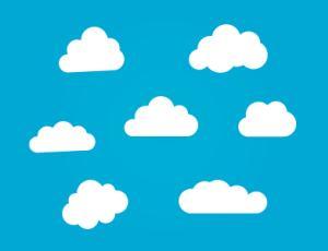可爱卡通云造型photoshop自定义形状素材 .csh 下载