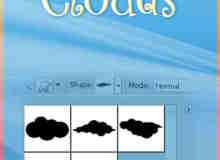 小清新卡通云朵图形Photoshop自定义形状素材