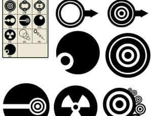 超时代非主流同心圆图案PS笔刷装扮素材