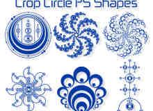 复古科学元素圆圈组合图形photoshop自定义形状素材 .csh 下载
