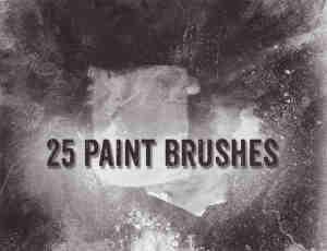 25种免费油漆、水彩痕迹PS笔刷下载