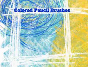 15种铅笔、蜡笔涂痕效果笔触PS笔刷