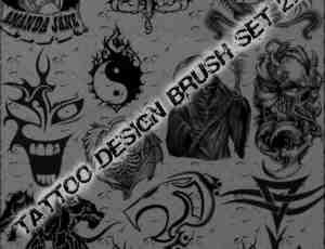 欧美非主流式风格刺青、纹饰图案PS笔刷下载