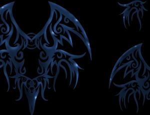 魔鬼式不良少年刺青纹身图案PS笔刷素材