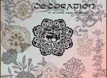 古典花纹、雕刻花朵图案PS笔刷下载