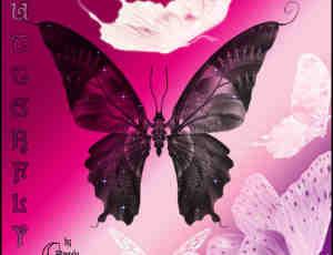 漂亮的魔幻蝴蝶图形Photoshop笔刷素材下载