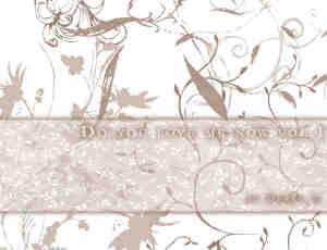 随意涂鸦植物花纹图案PS笔刷素材下载