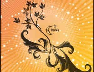 优雅美丽的植物花纹图案PS印花笔刷