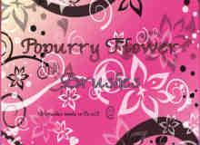 水晶梦幻般鲜花植物藤蔓印花图案PS背景图案笔刷