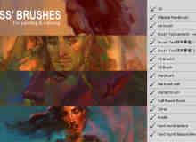 CG原画艺术创作专用PS CS6 版笔刷(.tpl 格式:工具预设类型素材)