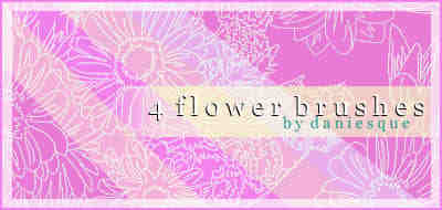 漂亮的手绘向日葵花朵图案PS笔刷素材下载
