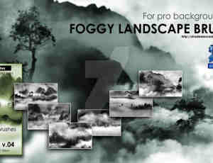 6种高清雾气、迷雾、大雾、山中烟雾里缭绕PS环境笔刷