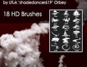 烟雾效果、浓烟、烟气轨迹Photoshop烟雾笔刷
