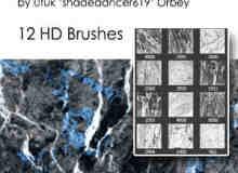 12种高清大理石纹理、云石、岩石断层纹理Photoshop笔刷素材