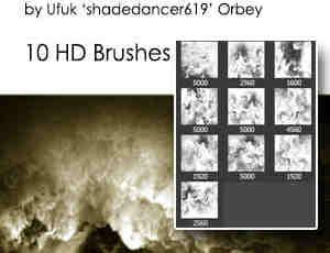 抽象烟雾、泥流翻滚效果Photoshop笔刷素材
