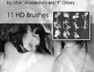 11种高清烟雾、烟气Photoshop笔刷素材